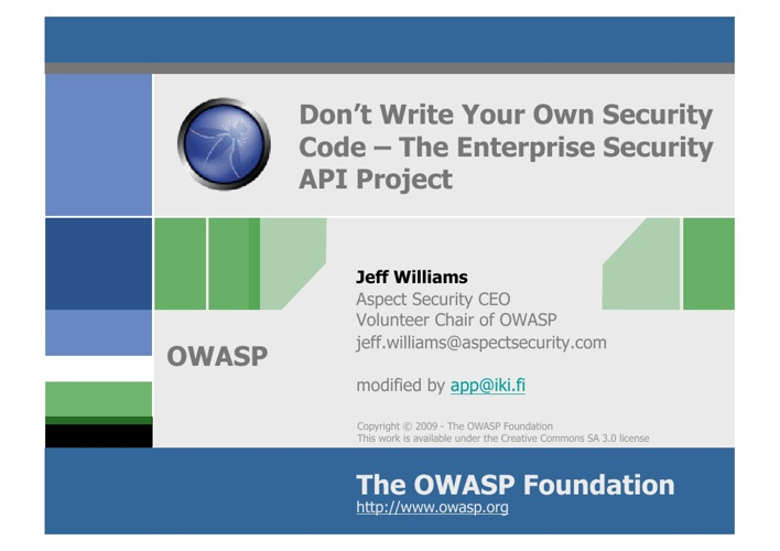 ESAPI_for_OWASP