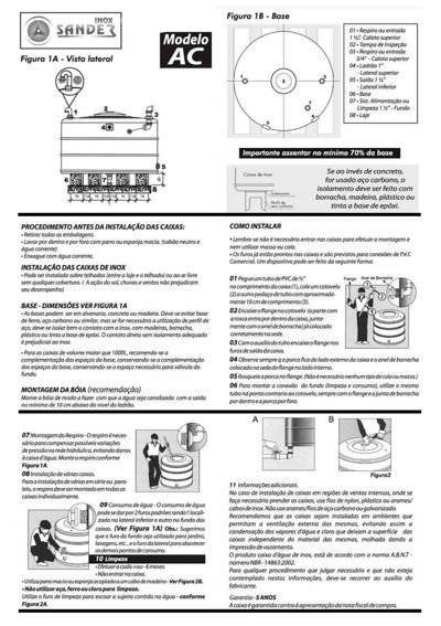 Manual Caixa D'água SanderInox