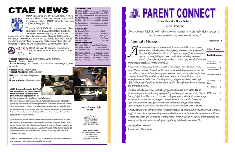 February Parent Connect Newsletter