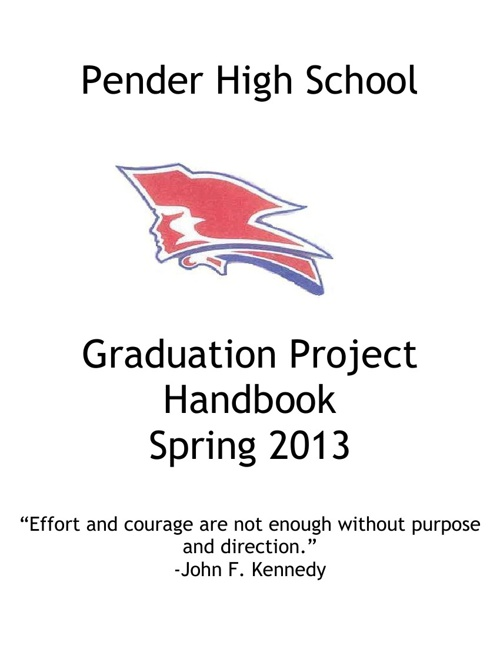 Graduation Project Seniors:  Spring 2013