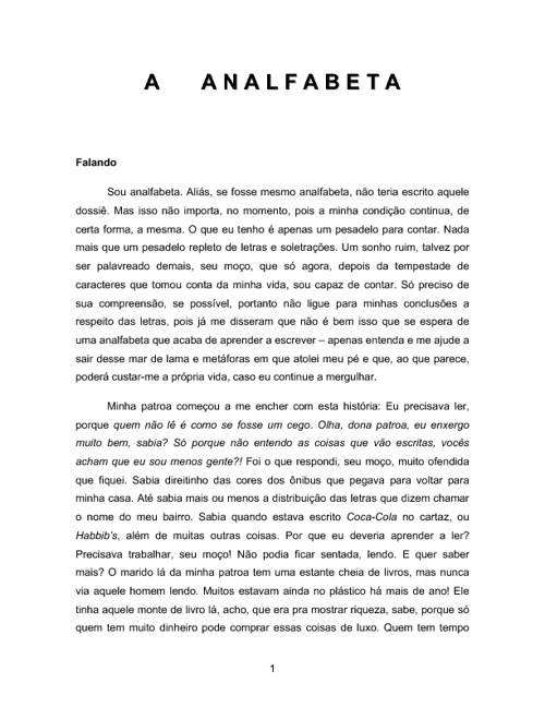 A Analfabeta, de Wallace Fauth
