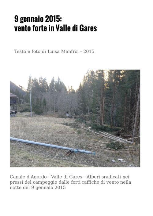 Notte del 9 gennaio 2015: vento forte in Valle di Gares