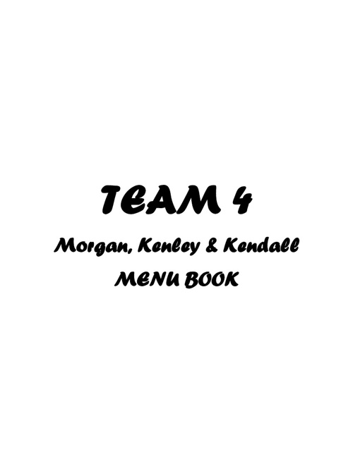 Menus Team 4