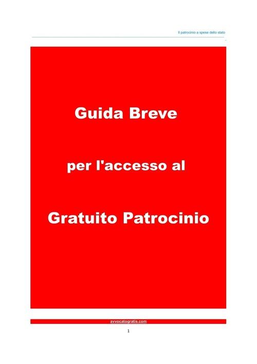IL GRATUITO PATROCINIO - Manuale Guida Breve