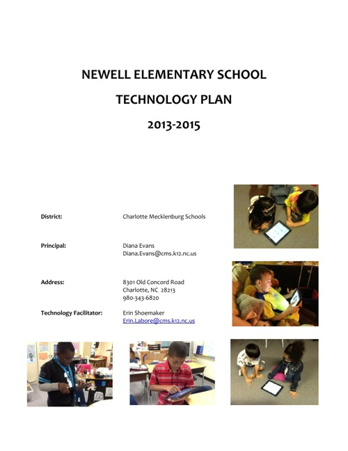 Newell Elementary Technology Plan 2013-2015