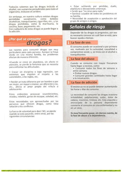 PREVENSION DEL USO INDEBIDO DE DROGAS Y ALCOHOL