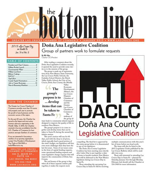 The Bottom Line January 2015