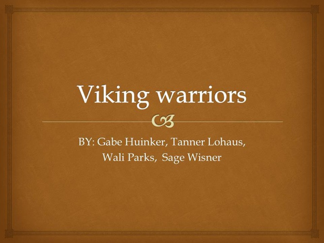 The Viking Warriors