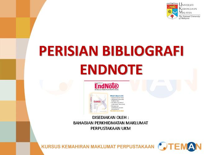 Pengenalan kepada perisian bibliografi Endnotes