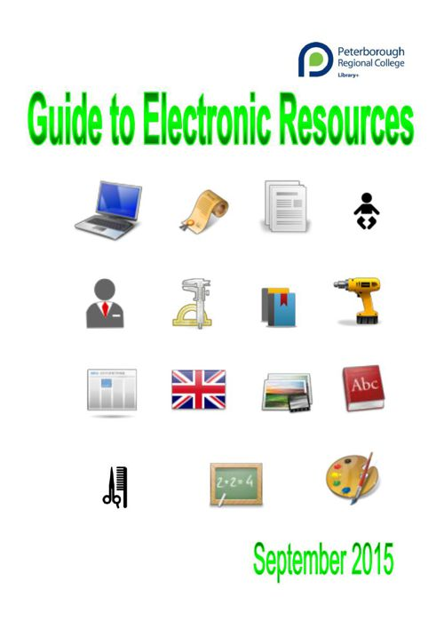 Guide to Electronic Resources September 2015
