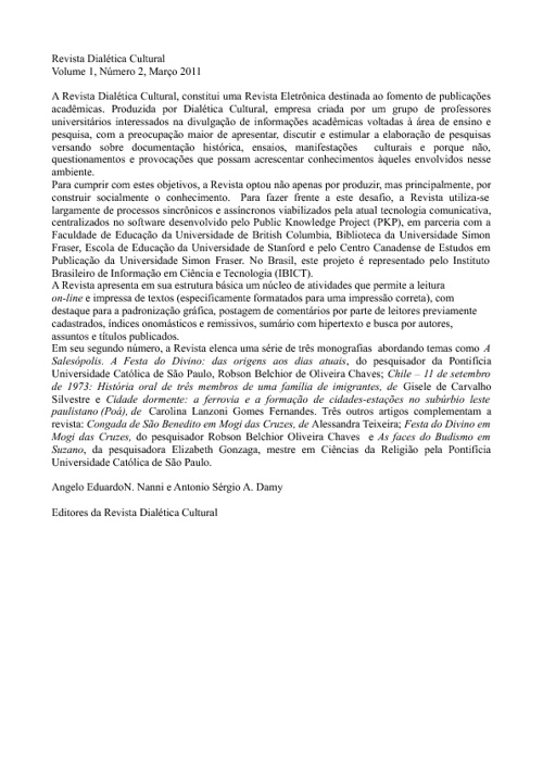 RDC ano2 v1n2 Editorial