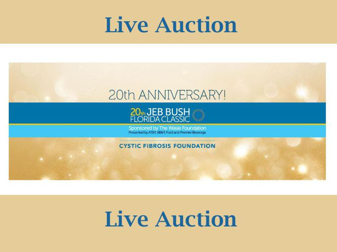 JEB BUSH Florida Classic Live Auction Selection