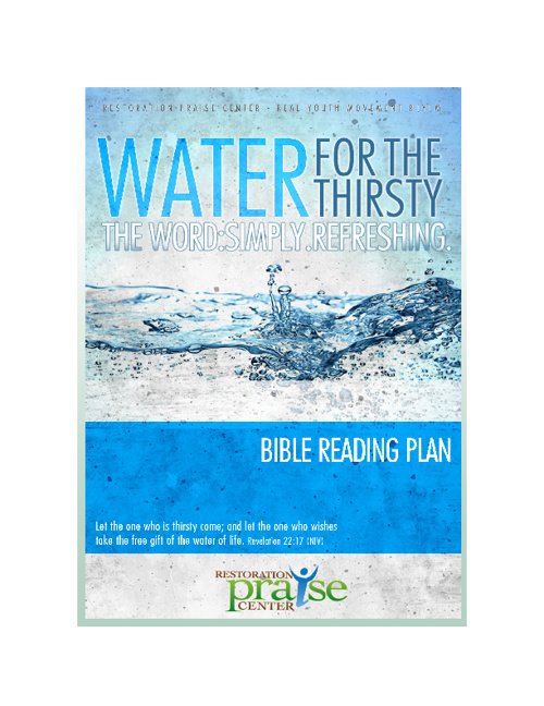 Water For The Thirsty Bible Reading Plan