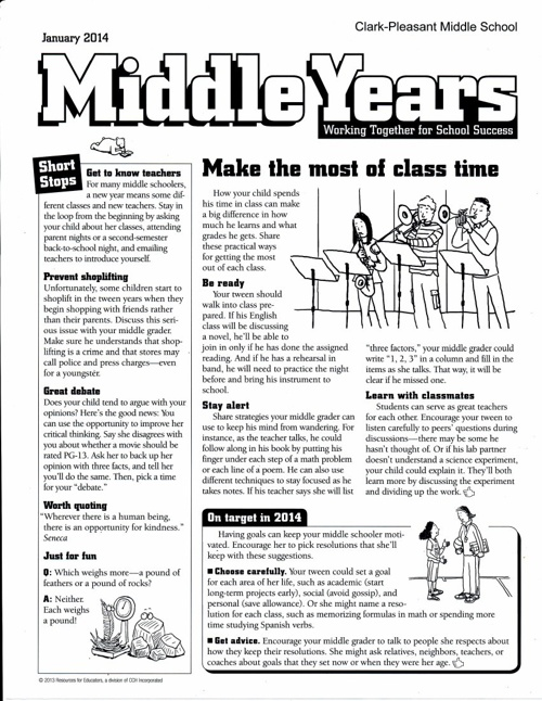 Middle years: January