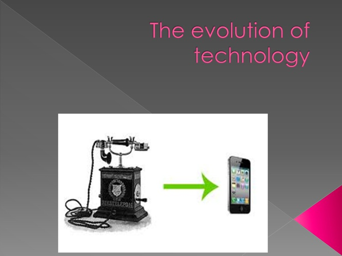 the evolution of technology