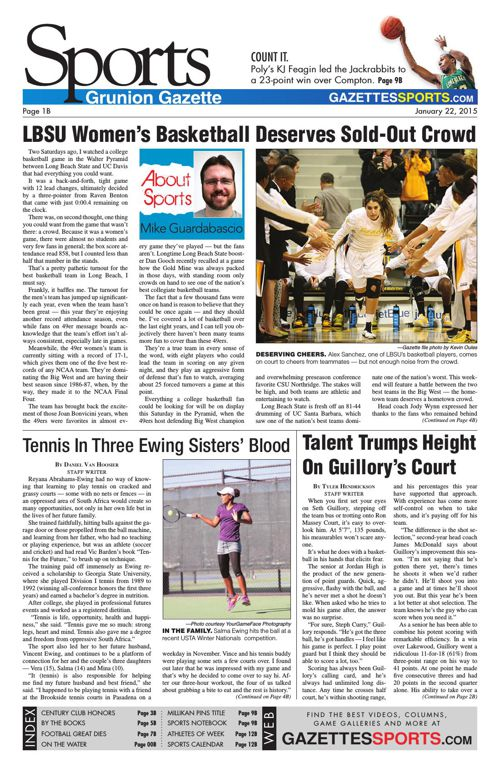 Gazette Sports | January 22, 2015