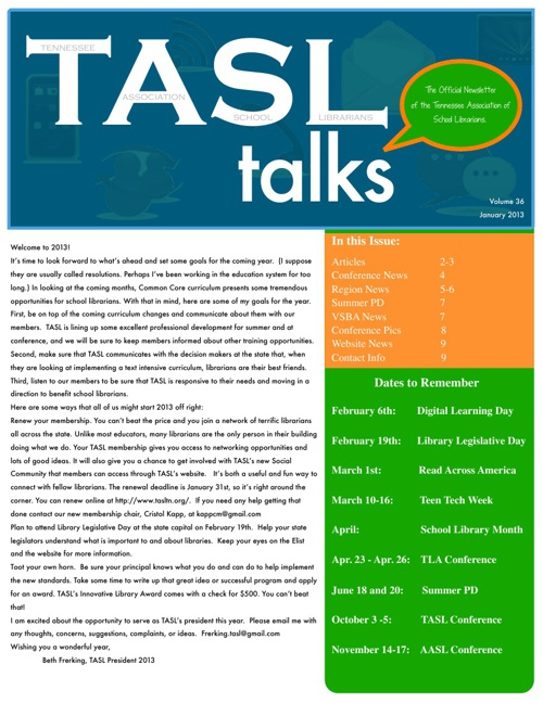 TASL Talks January 2013