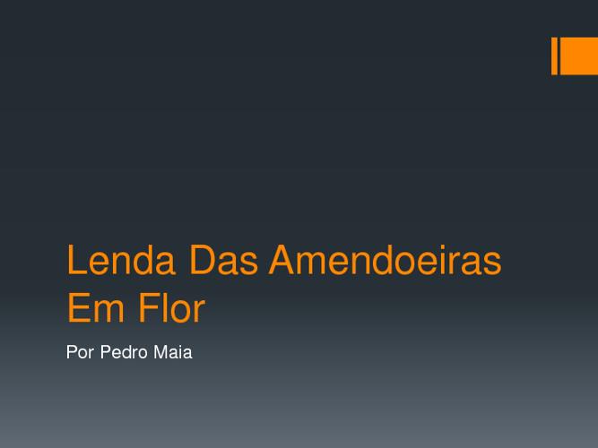 A Lenda Das Amendoeiras-Pedro Maia
