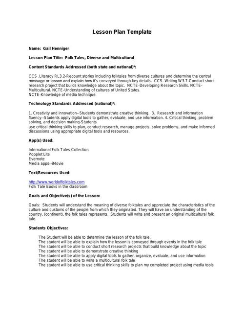 Lesson Plan (Activity Plan) Template ipad - Copy-My-Laptop