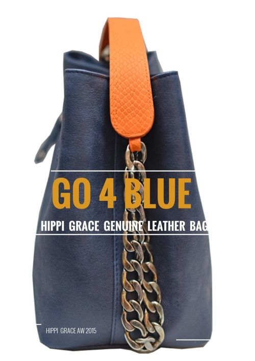 Hippi Grace Go 4 Blue Leather Bags