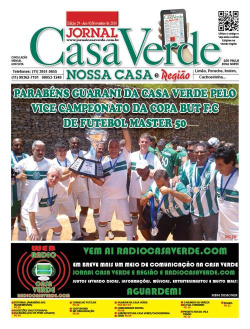 Jornal Casa Verde e Região - 28ª Edição - Novembro 2014