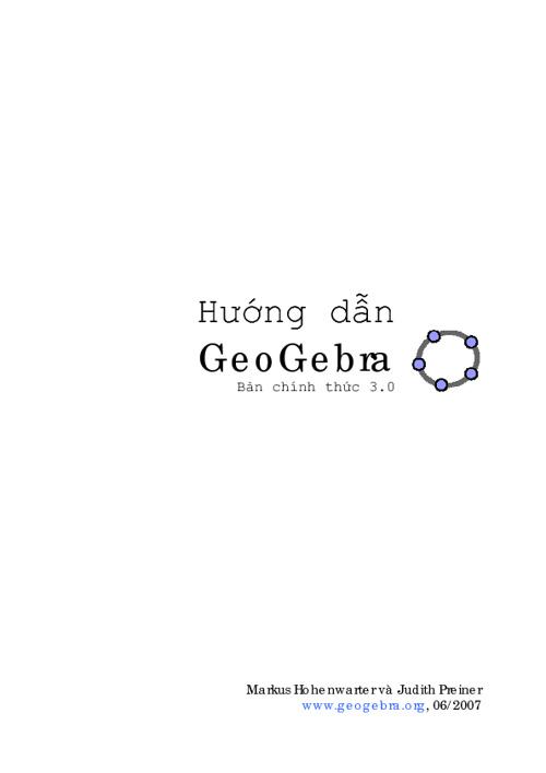 Huong dan GeoGebra 3.0