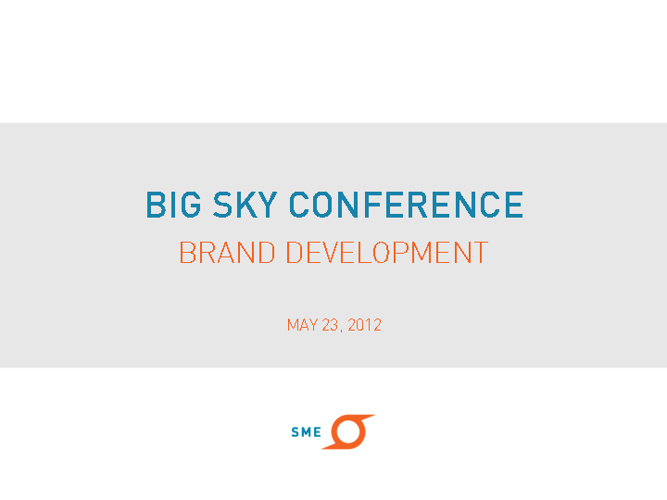 Big Sky Conference May Presentation