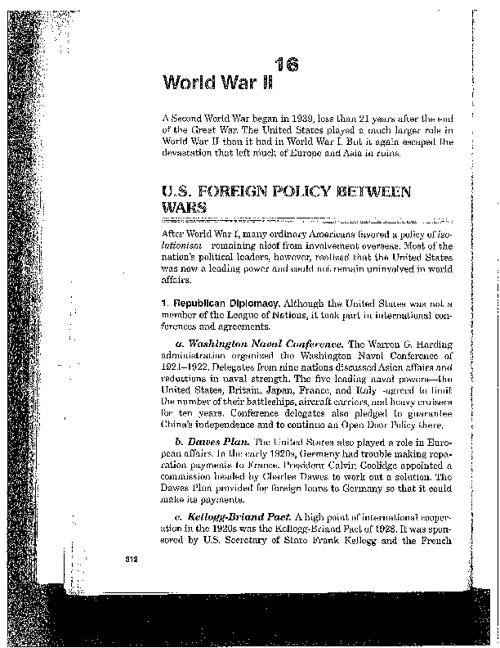 Chapter 16: World War II