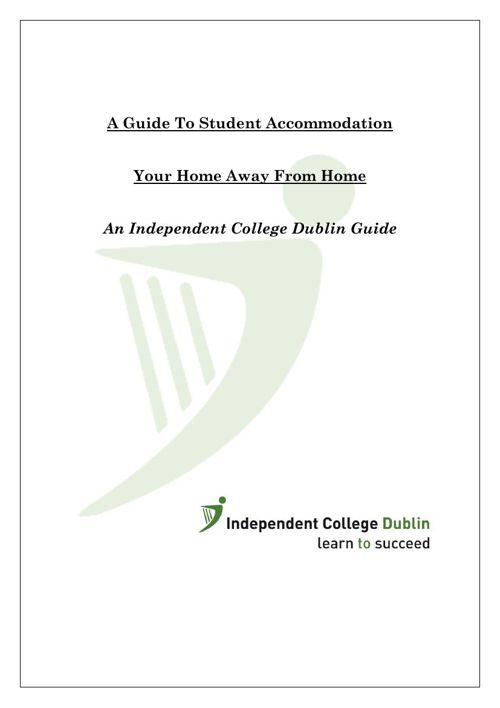 Accomodation at Independent College Dublin