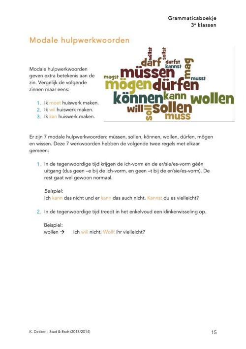 3e klassen - grammaticalijn (K. Dekker)deel2