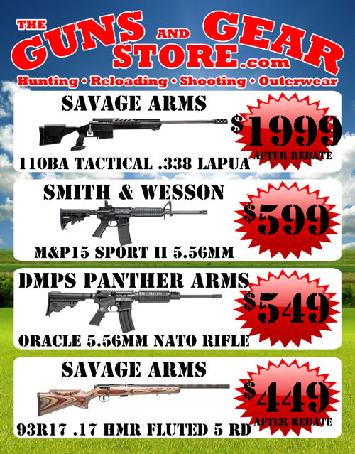 The Guns and Gear Store Summer Shooter's Sale