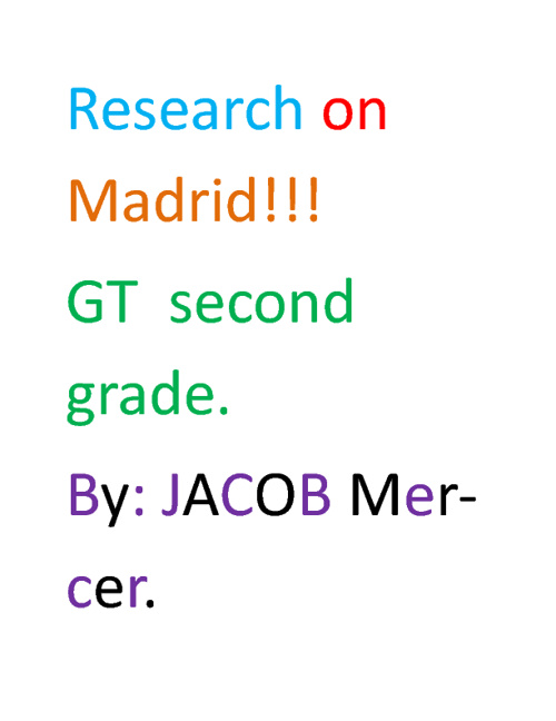 Copy of Madrid by Jacob Mercer