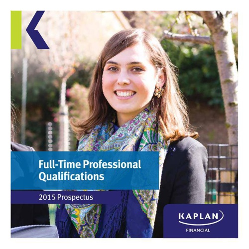 Kaplan Financial Prospectus 2015