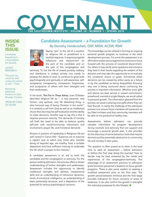 Covenant Spring 2015