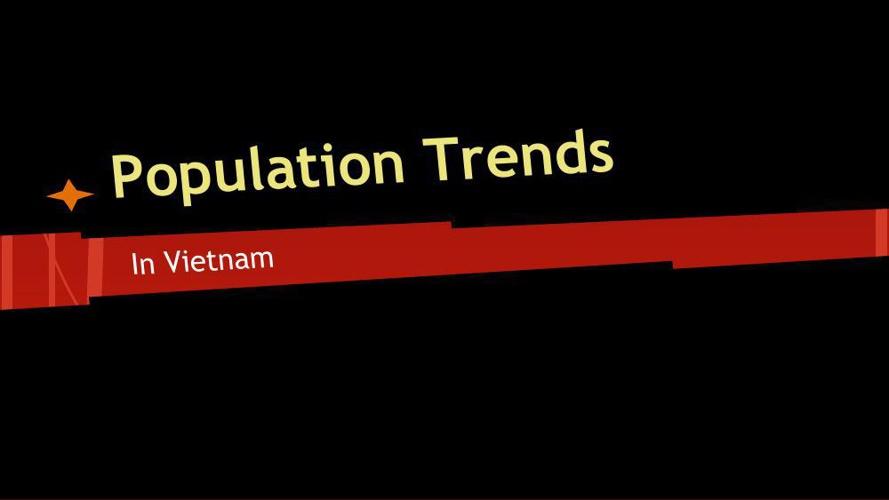 Population Trends of Vietnam 1990, 2015, & 2050