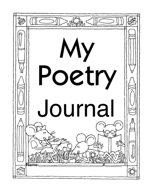 Poetry Journal by Mrs. Childress at http://just4teachers.blogspo