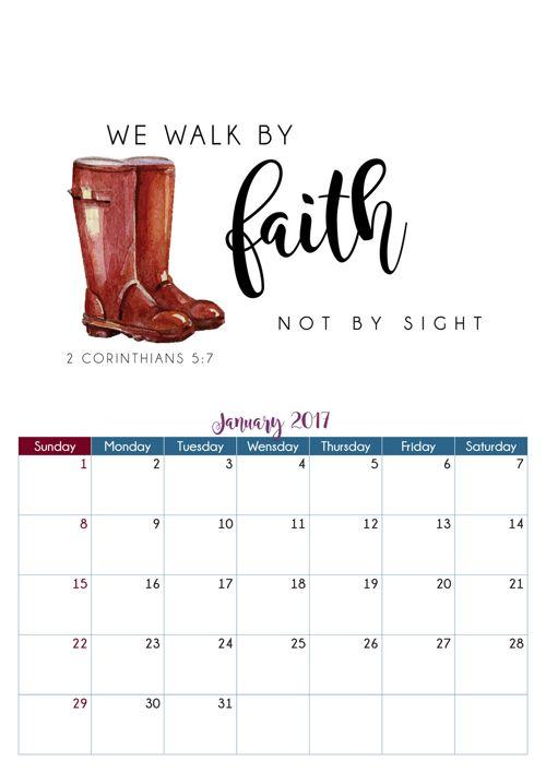 Calendar motivational A4
