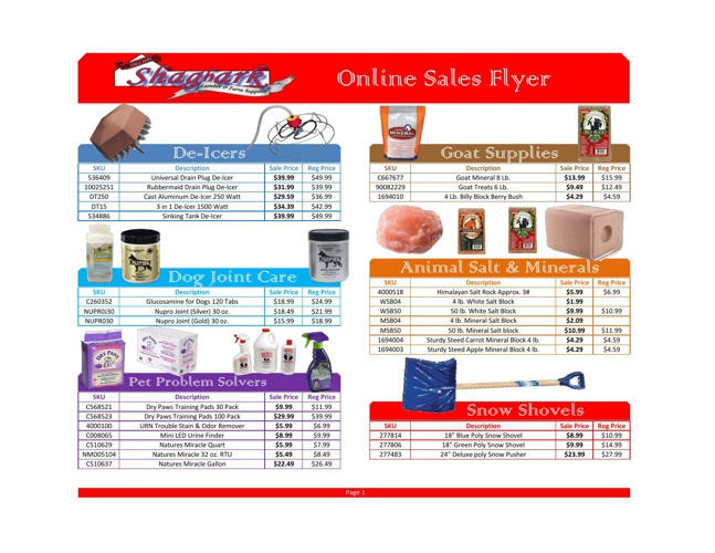 February 2013 Online Sales Flyer