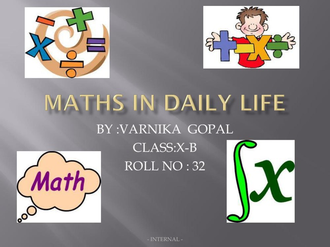 MATHS IN DAILY LIFE (1)