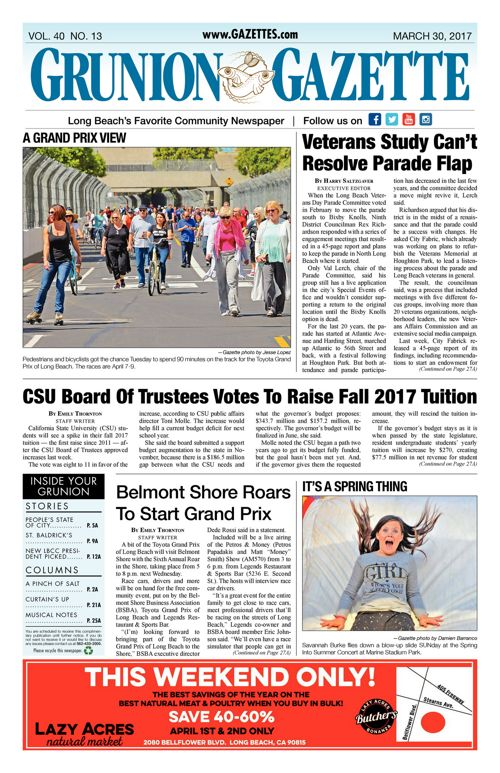 Grunion Gazette  |  March 30, 2017