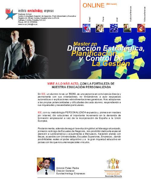 Direccion Estrategica, Planificación y Control de la Gestión