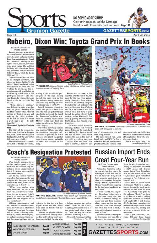 Gazette Sports   April 23, 2015