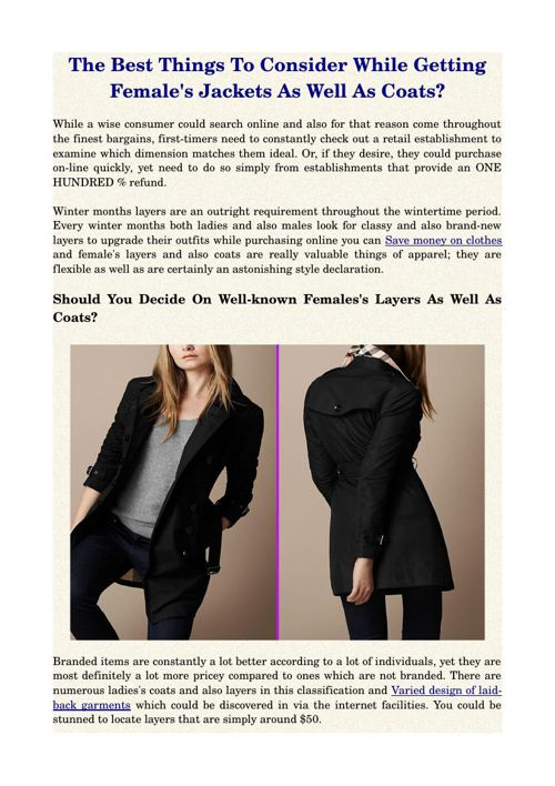 The Best Things To Consider While Getting Female's Jackets As We