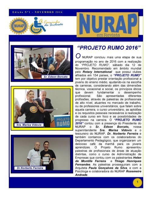 Nurap em Revista_Ed1_Novembro 2016