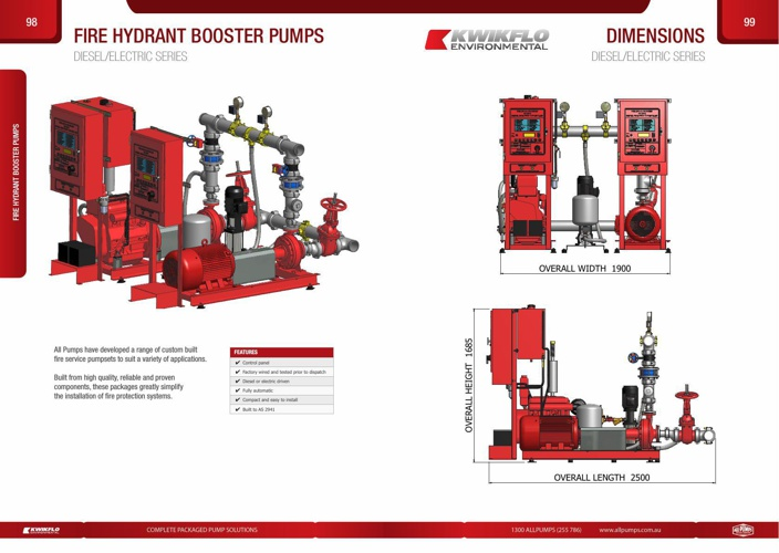 Diesel/Electric Series Fire Hydrant Booster Pump