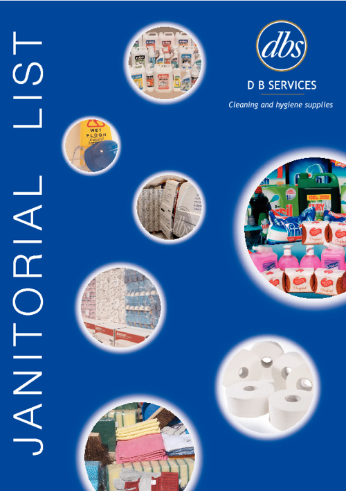 DB Services cleaning supplies brochure