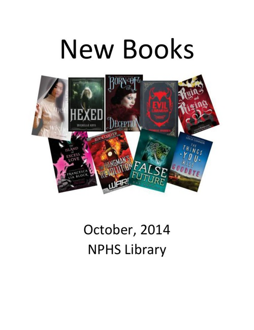 New Books October 2014