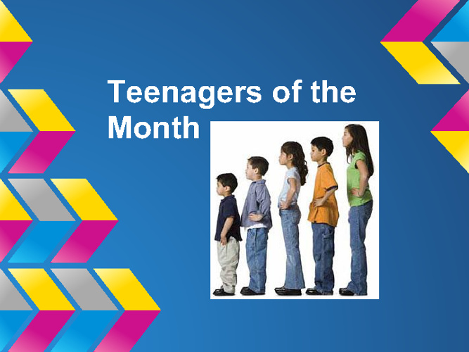 teeagers of the month
