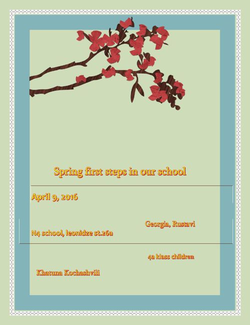 Spring first steps in our school