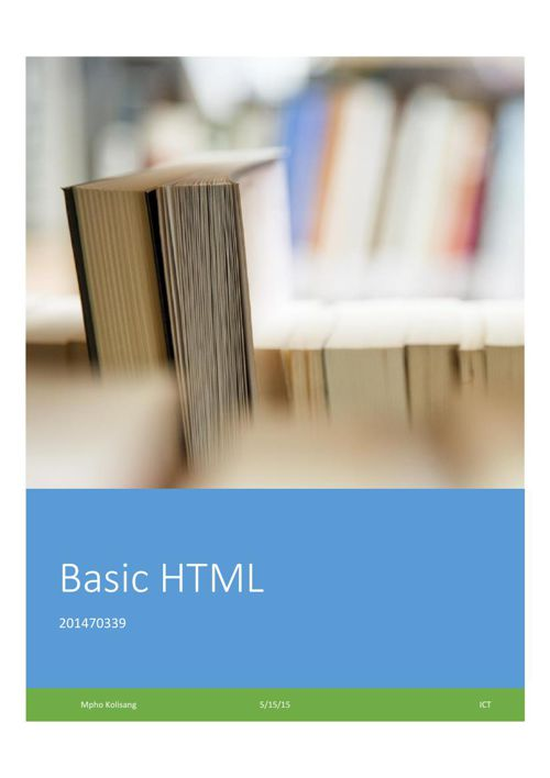 How to with html